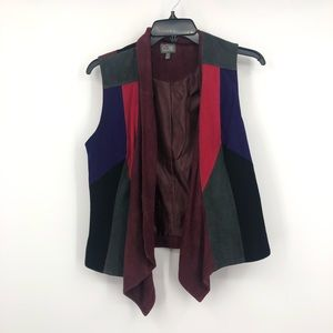 New Cusp by Newman Marcus Draped front suede vest